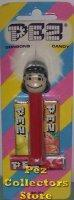 Peanuts Pez Lucy A 3.9 Thin feet Pez Mint on Euro Striped Halo Card