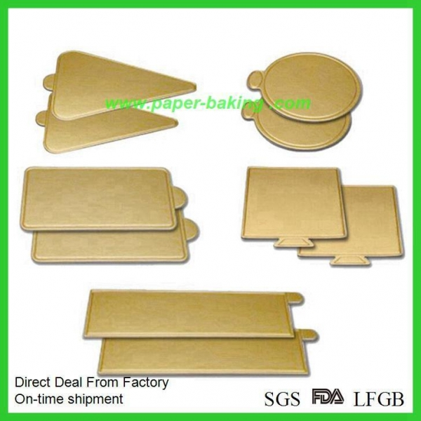 China Cheap Gold Cardboard Cake Rounds Cake Boards