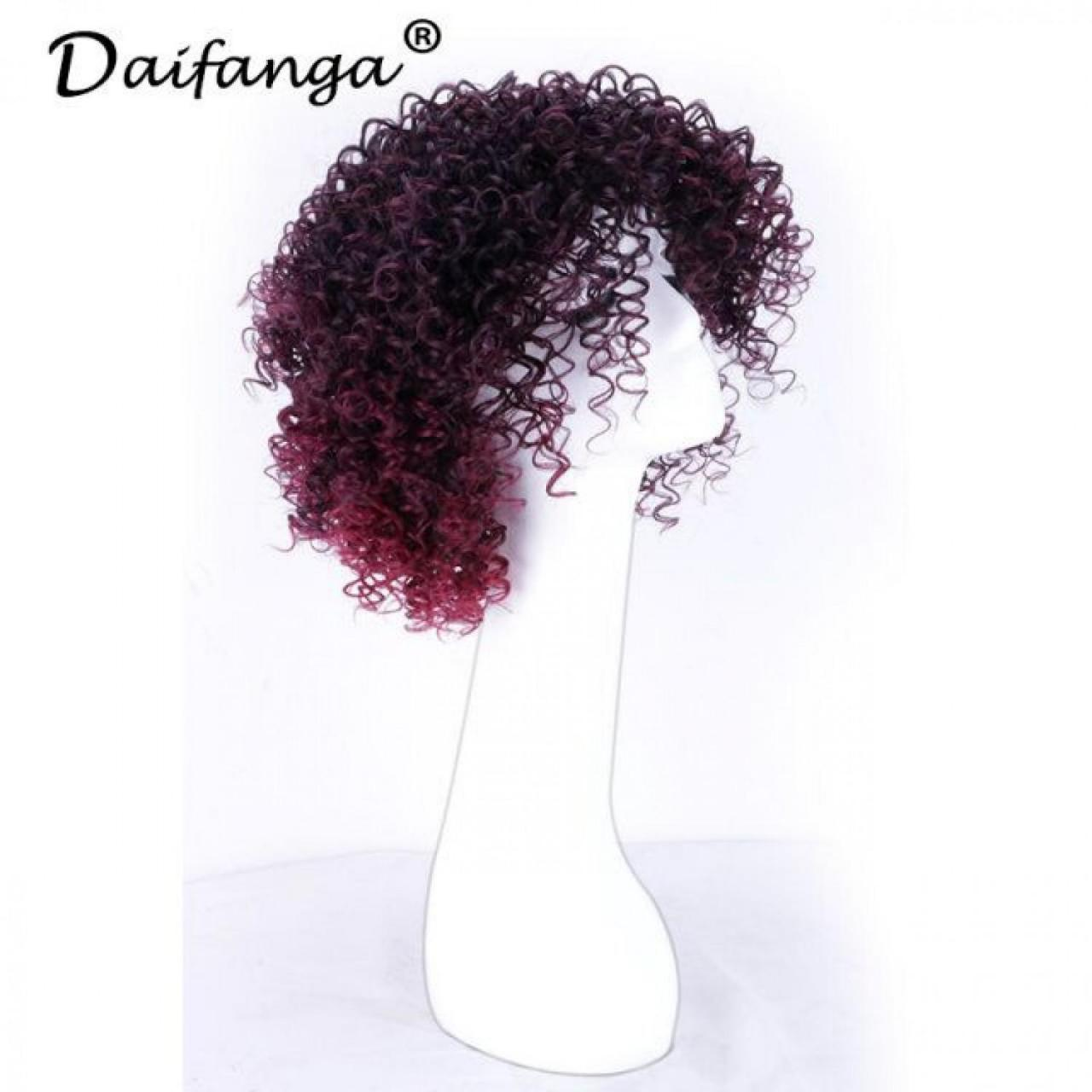China Get Sample Free #39g Curly Hair Wig 30% Human Hair With 70% Temperature Ladies Wigs on sale