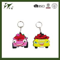 Soft PVC rubber custom key chain in car shape