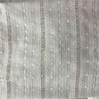 Quality 100% Cotton Broderie Anglaise White Embroidered Eyelet Cotton Fabric wholesale