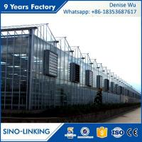 Quality SINOLINKING Agricultural polytunnel glass greenhouse Commercial wholesale