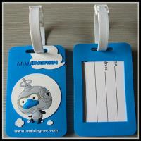 China embossed company logo cartoon silicone rubber luggage tag baggage tag on sale