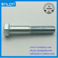 China Blue White Zinc Plated Hex Bolt on sale