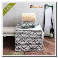 Buy cheap Lattice Sheared Corduroy Flannel Fleece Plaid Reverse Printed Ribbed Wholesale China Blanket Plaid from wholesalers