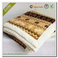 Quality Border 2 Ply Rotary Print Fleece Mexican Blanket wholesale