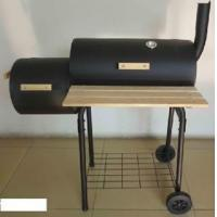 Quality Barrel Offset Smoker Outdoor BBQ Charcoal Barbecue Grill wholesale
