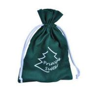 China Green Cotton drawstring pouch/packaging bag for jewellery on sale