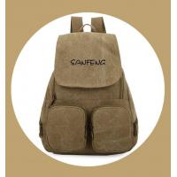Popular Waxed Canvas Backpack for Girls, Fashionable Casual Gear Backpack Factory Price