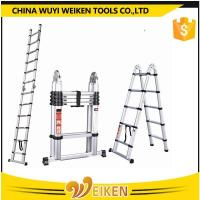 1.6m+1.6m, 5 step+5 step, 3.2m aluminum double side telescopic ladder