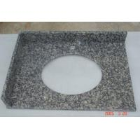 Quality Leopard Skin Granite installing Solid Surface Granite Bathroom Vanity Tops with Sinks wholesale