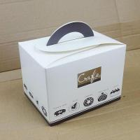 Cheap Birthday Cake Boxe/ Bakery Boxes Packaging, Custom Cardboard Small Cake Boxes UK With Handle for sale