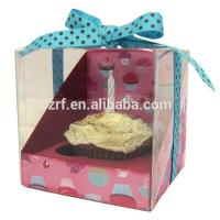 Individual Colored Lovely Cardboard Cupcake Packaging Boxes With Window