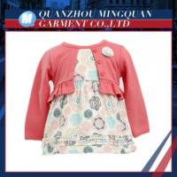 top quality fashionable 100%cotton baby girls dress set