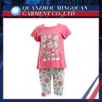 all-over print ice cream cute girls high quality child clothes set