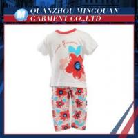 hot selling high quality fashion summer girls kids clothes set
