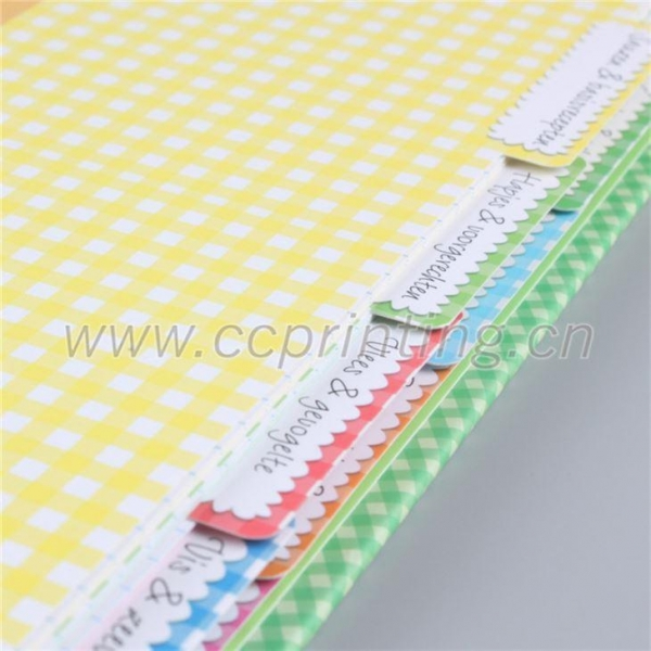Cheap Notebook with Colored Dividers for sale