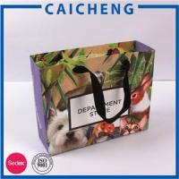 Buy cheap Custom Made Shopping Carrier Paper Bags for Clothing from wholesalers
