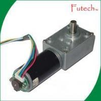 China 12 Volt 24 Volt DC Worm Gear Motor with Encoder on sale