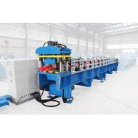 Glazed Tile Ridge Cap Roll Forming Machine With 8 - 12m / Min Forming Speed