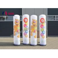 China Inflatable Advertising Outdoor Inflatable Advertising Blow Up Man Post Lamp Inflatable Pillar Shape on sale