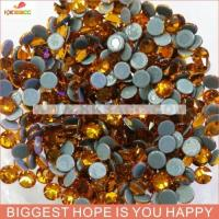 Buy cheap wholesale high quality 14cutting faceted ss16 topaz hotfix copy australia rhinestone from wholesalers