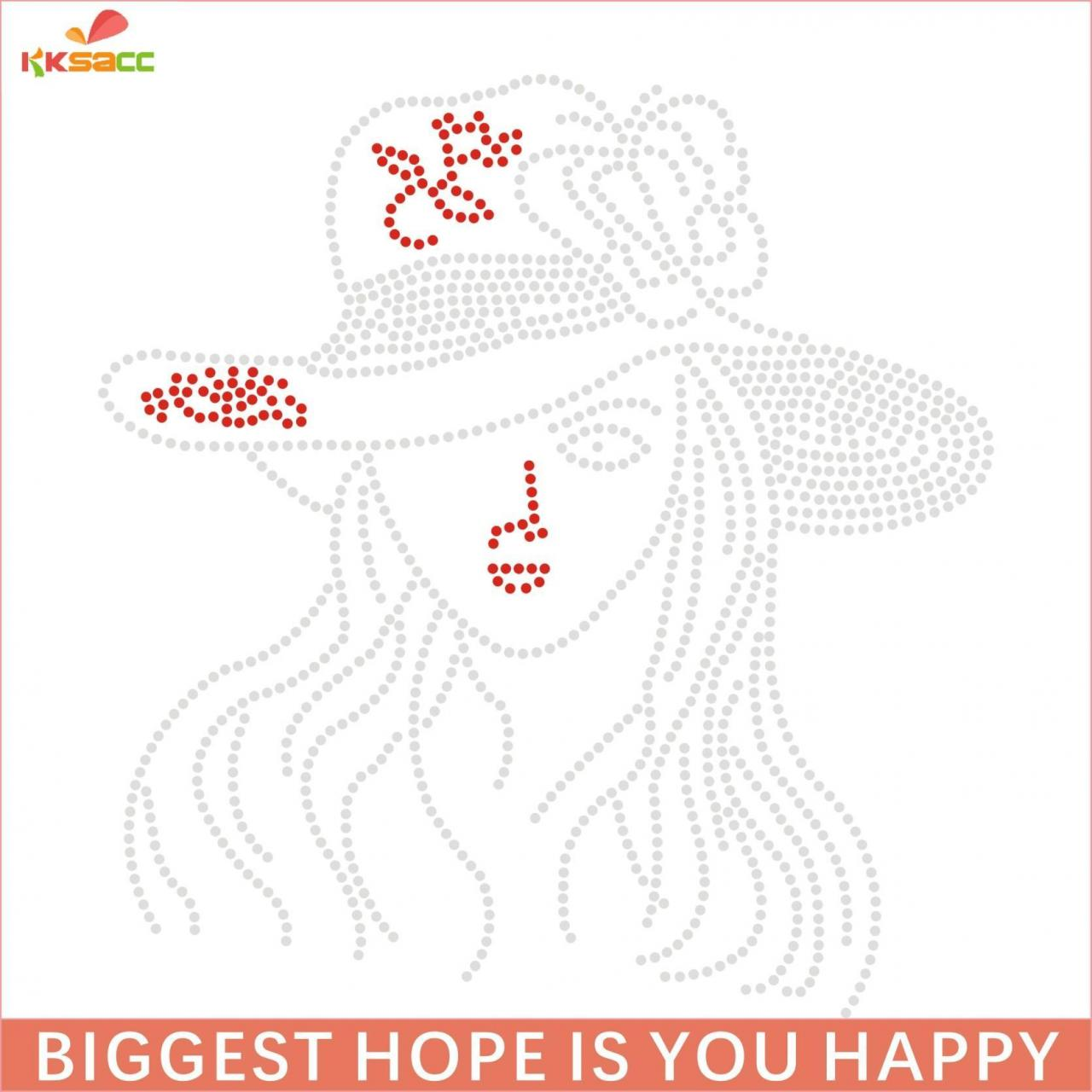Buy cheap wholesale lady with hat design hotfix rhinestone transfers from wholesalers