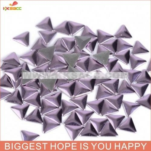 China Wholesale Blingling Purple Color Triangle Hotfix Nailhead