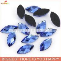 Quality 7*15MM DMC BLUE COLOR HOT-FIX RHINESTONE wholesale
