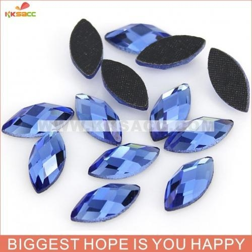 China 7*15MM DMC BLUE COLOR HOT-FIX RHINESTONE