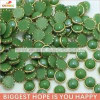 Buy cheap wholesale 8mm green color hotfix ring ceramic stone from wholesalers