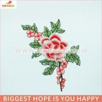 Quality NEW arrival pink flower j&d embroidery patterns in fashion accessories garment wholesale