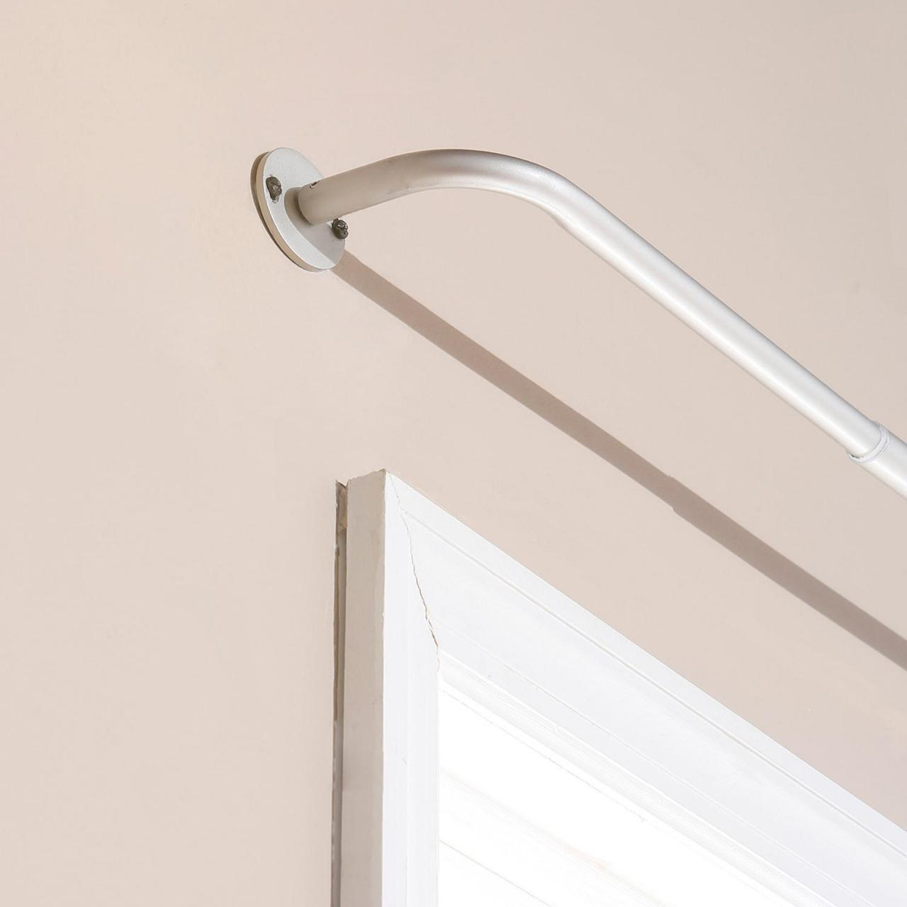 Quality welded curtain rod, powder coated wholesale