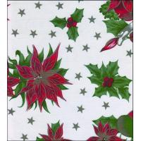 Quality Christmas Stars White Oilcloth wholesale