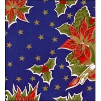 Quality Christmas Stars Blue Oilcloth wholesale