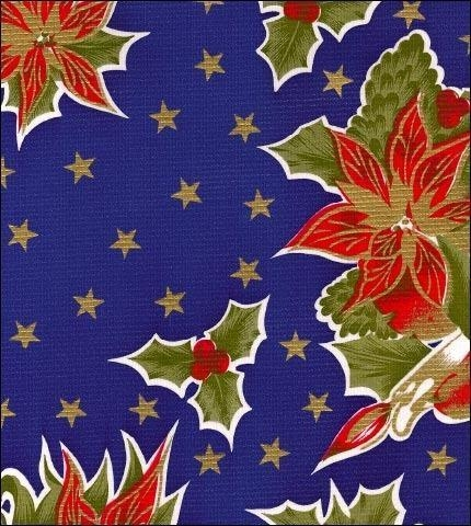 Cheap Christmas Stars Blue Oilcloth for sale