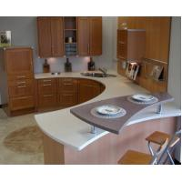 Quality types of kitchen countertops White solid surface kitchen countertop BKCT-001 wholesale