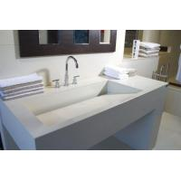 Quality bathroom cabinets and countertops Pure white solid surface countertop BBCT-003 wholesale