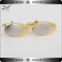 Quality Vintage/Retro Classic Mens Oval Gold Cufflink With Oval Silver wholesale