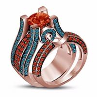Quality Engagement Ring Bridal Set Red Garnet Fine Jewelry 2016 High Quality Jewelry Fashion Rings For Women wholesale