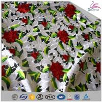 Quality 3d Flowers Embroidery Lace Fabric By The Yard wholesale