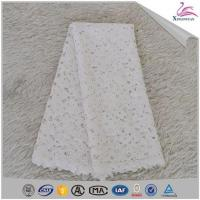 Buy cheap Custom Chemical Guipure Lace Evening Bridal Dress Fabric from wholesalers