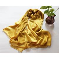 Quality Red Long Pure 100% Silk Scarf for Ladies Satin Solid Color Shawl wholesale