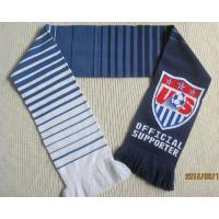 Buy cheap Winter Acrylic Seamless Jacquard Football Fans Scarves with Tassels from wholesalers