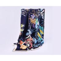 Quality Fashion Large Square Silk Infinity Scarf for Women Crepe Satin Printing Hair Scarf wholesale