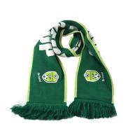 Quality Acrylic Seamless Jacquard Fans Vintage Long Football Scarves with Double Color wholesale