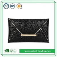 China Womens Fashion Black Sparkly Sequin Evening Envelope Clutch Purse Bag on sale