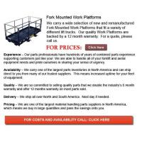 Quality Fork Mounted Work Platform wholesale