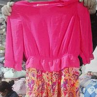 Quality Lady Silk Dress Export Second Hand Clothes wholesale
