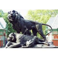 China Bronze casting foundry metal craft bronze lion statues on sale